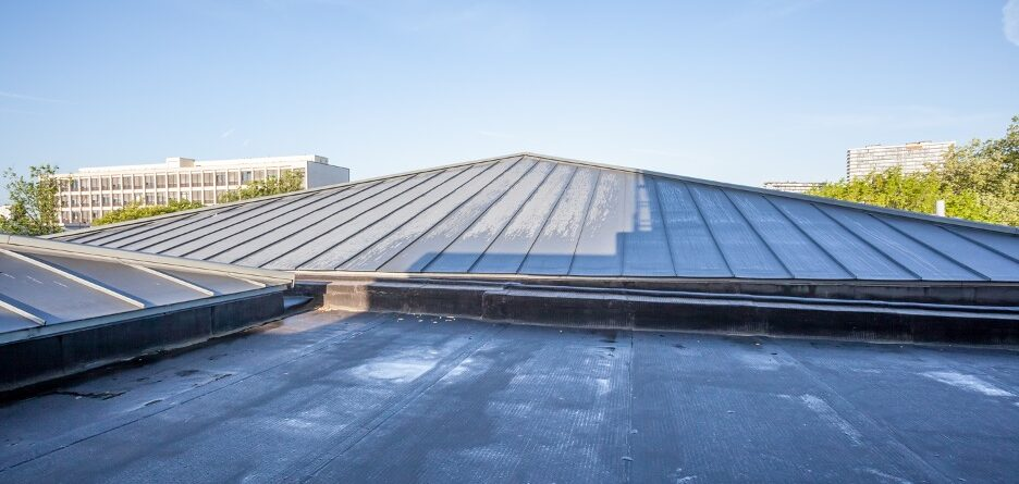 Flat roofing maintenance at a business in Ukrainian Village, Chicago